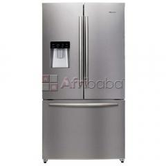 Hisense - 720ltr french door fridge water dispenser metallic