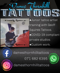 Dames Thornhill Tattoos