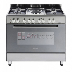 Elba 900mm 4 gas burner 2 plate stove stainless steel - 01/9cx727