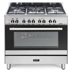 Elba silver classic 5 burner gas/electric stove - 9cx827n