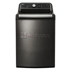 Lg 24kg black stainless steel top loaded washing machine - t2472efhstl