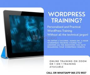 Online Practical Wordpress Training or Face to face