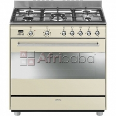 Smeg 90cm vintage cream concert cooker & multifunction oven - ssa91map