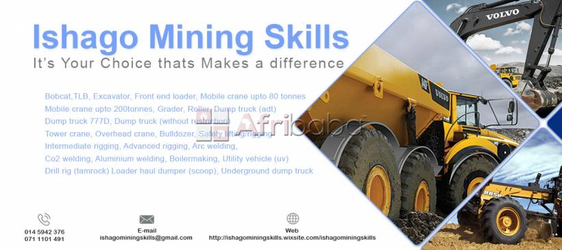 Training school in rustenburg grader training machine