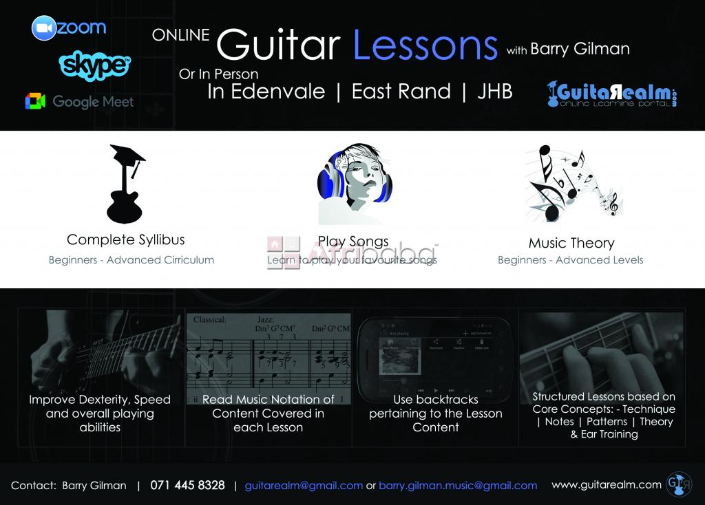 Certified guitar tutor with over 15 years teaching experience.