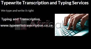 Transcription and Editing Services #1
