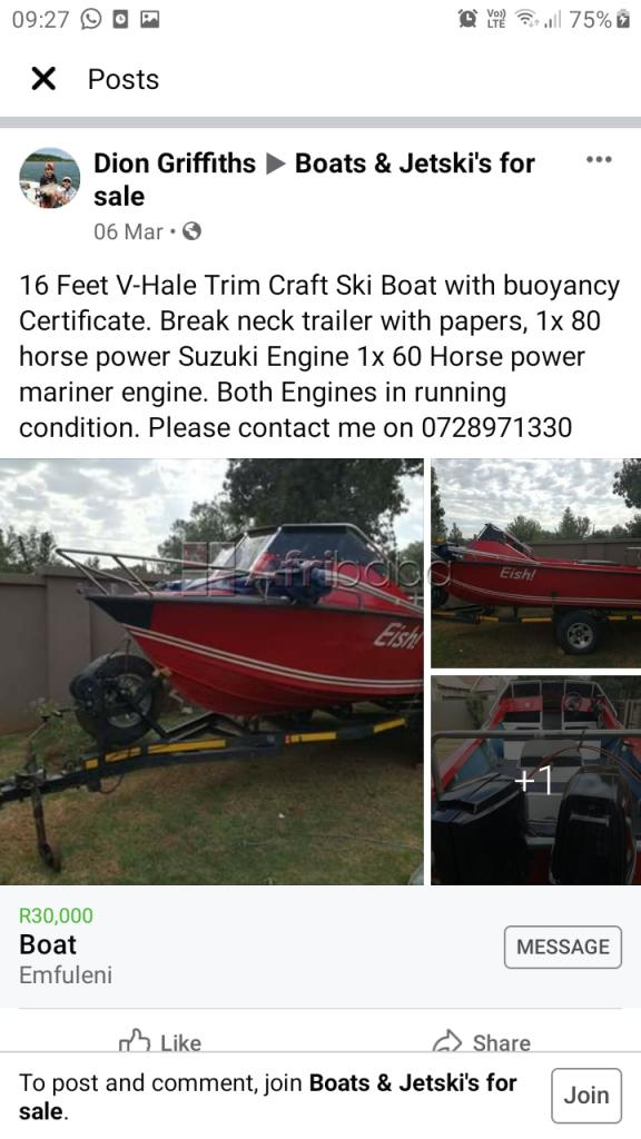 Boat For Sale #1