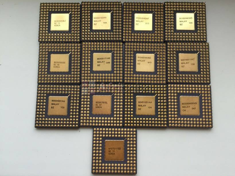 Very high yield gold recovery cpu ceramic processor scraps and compute