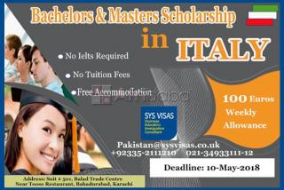 Bachelors & Masters Scholarships In Italy